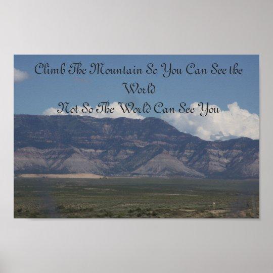 Climb The Mountain Poster