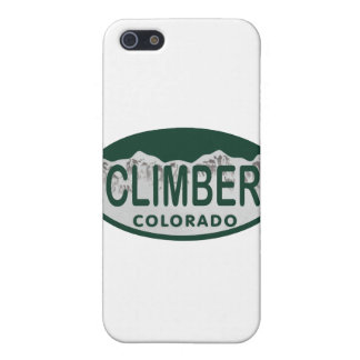 climber license oval iPhone 5 cover