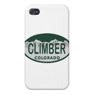 climber license oval iPhone 4 case