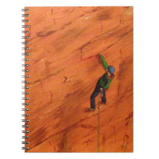 Climber on Red Rock Notebook