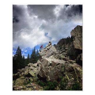 Climber - Weminuche Wilderness - Colorado Photo