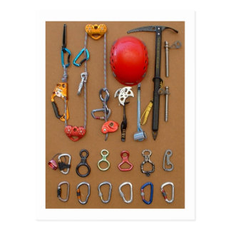 Climbers equipment -- postcard