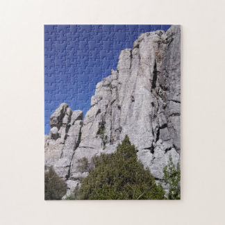 Climbing at the City of Rocks National Reserve Jigsaw Puzzle