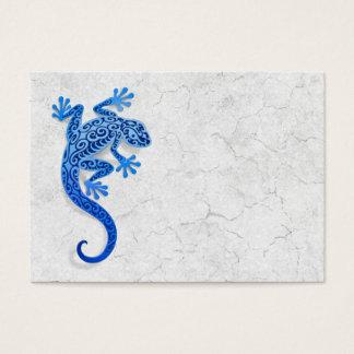 Climbing Blue Gecko on a White Wall Business Card