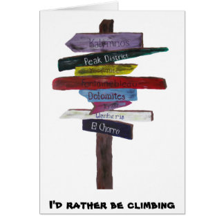 Climbing Destinations Card