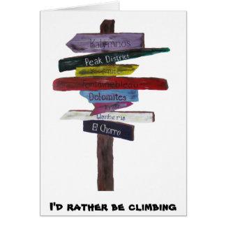 Climbing Destinations Card