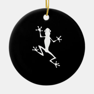 Climbing Frog Silhouette Christmas Ornament