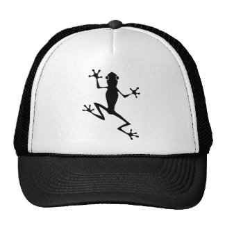 Climbing Frog Silhouette Trucker Hat