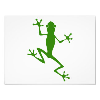 Climbing Green Frog Silhouette Photographic Print
