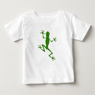 Climbing Green Frog Silhouette Tshirt