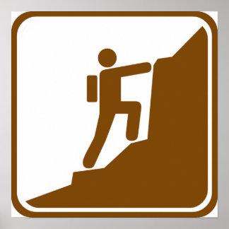 Climbing Highway Sign
