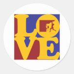Climbing Love Round Sticker