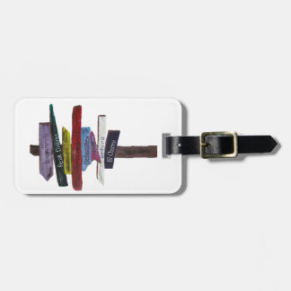 Climbing luggage tag