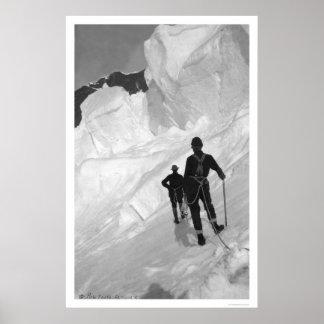 Climbing Mount McKinley Alaska 1906 Print