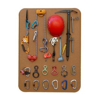 Climbing / Mountaineering Gear Rectangular Photo Magnet
