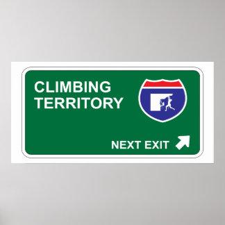 Climbing Next Exit Poster