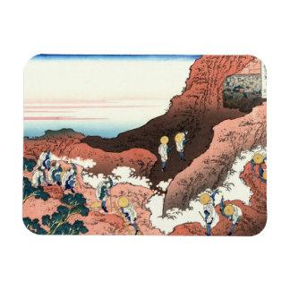 Climbing on Mt. Fuji Katsushika Hokusai Rectangular Photo Magnet