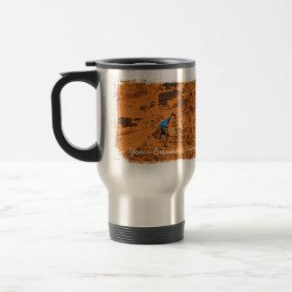 Climbing on Red Rocks; Promotional Travel Mug