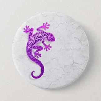 Climbing Purple Gecko on a White Wall 7.5 Cm Round Badge