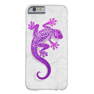 Climbing Purple Gecko on a White Wall Barely There iPhone 6 Case
