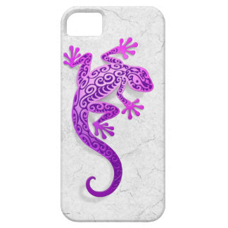 Climbing Purple Gecko on a White Wall iPhone 5 Cover