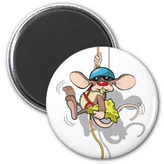 Climbing Rat 6 Cm Round Magnet