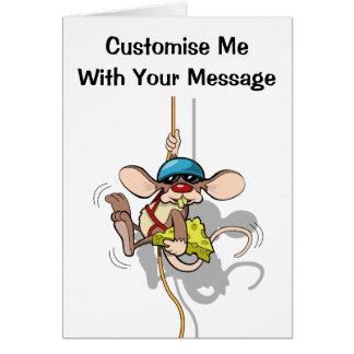 Climbing Rat Greeting Card