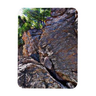 Climbing Rocks And Trees Rectangular Photo Magnet