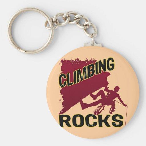 Climbing Rocks Key Chain