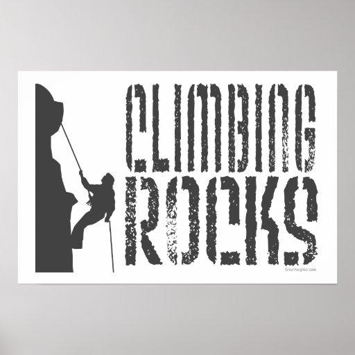 Climbing Rocks Poster