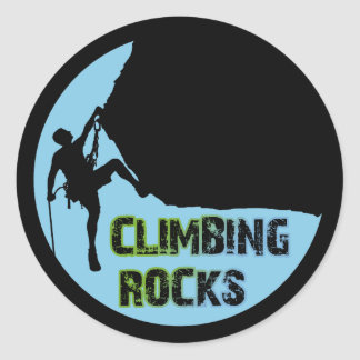 Climbing Rocks Round Sticker