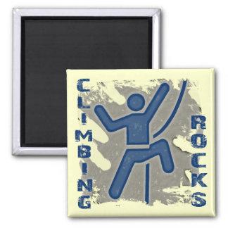 Climbing Rocks Square Magnet