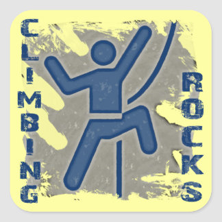 Climbing Rocks Square Sticker