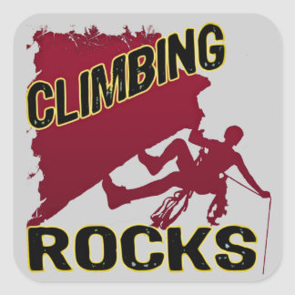 Climbing Rocks Square Stickers