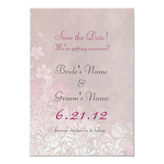 Climbing Rose in Pink Wedding Save the Date Cards Custom Announcements