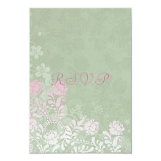 Climbing Rose Wedding RSVP Notes 9 Cm X 13 Cm Invitation Card