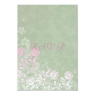 Climbing Rose Wedding RSVP Notes Card