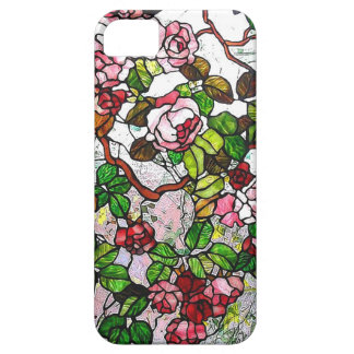 Climbing Roses - stained glass Barely There iPhone 5 Case