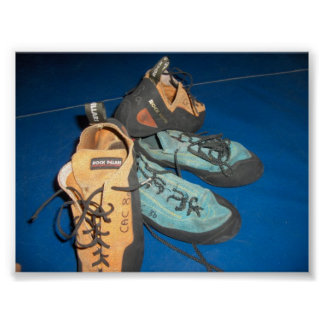 Climbing Shoes Poster