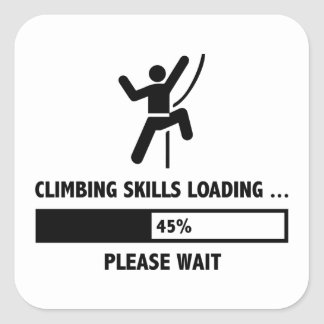 Climbing Skills Loading Square Sticker