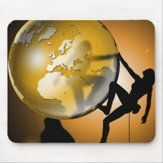 Climbing the world mouse pad