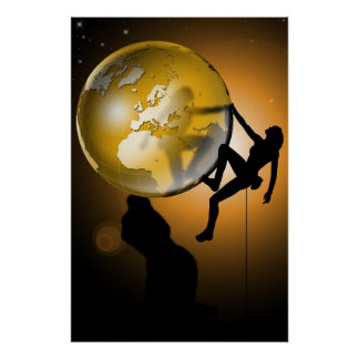 Climbing the world poster