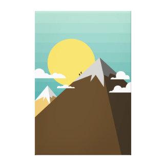 Climbing To The Top Of A Mountain Canvas Print
