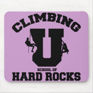 CLIMBING U SCHOOL OF HARD ROCKS MOUSE PAD