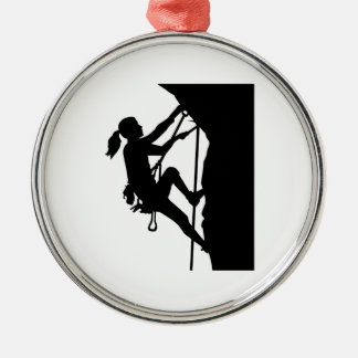 Climbing woman girl christmas ornament