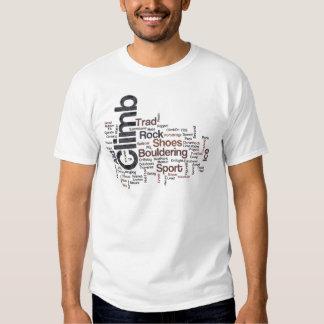 Climbing Words Tshirts