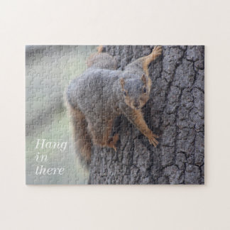 Clinging Squirrel Jigsaw Puzzle