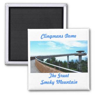 Clingmans Dome Square Magnet