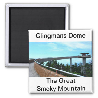 Clingmans Dome: The Smoky Mountain Square Magnet