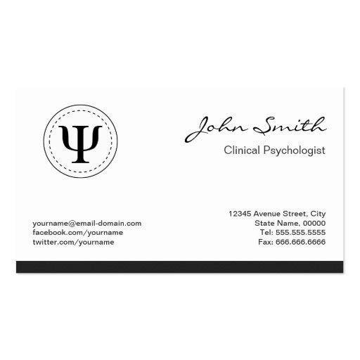 Premium psychology business card templates clinical psychologist psychology psi symbol colourmoves